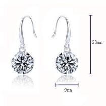 silver  earring 1192307(9mm)