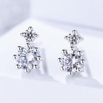 silver flower earring 512