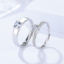 silver open ring 733