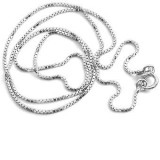 20 1mm box silver chian 155120
