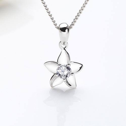 Silver flower pendant 960