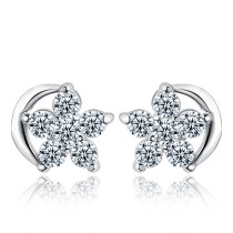 silver earring MLE350
