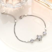 silver flower bracelet MLB236