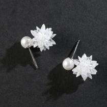 silver earring MLE536