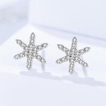 silver star earring 155