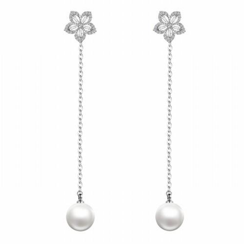 flower pearl earring