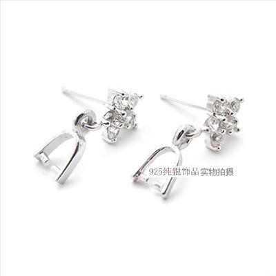.花瓣锆石  earrings 配件