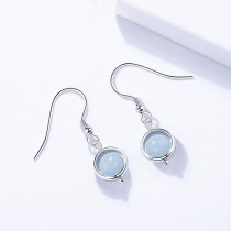 Silver bead earring 1496