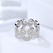 Silver heart ring 356