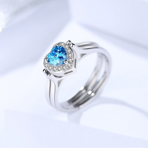 Silver heart ring 532