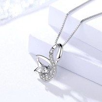 silver swan pendant 985