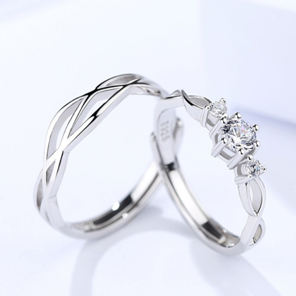 Silver Couple ring 397