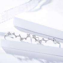 Silver long earring 1170