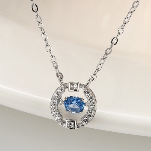 silver round necklace MLA830
