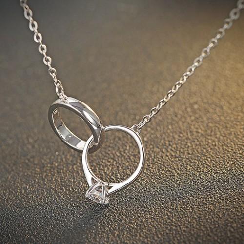 silver necklace MLA726
