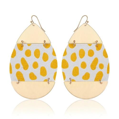 Leopard leather earrings ME68557-3