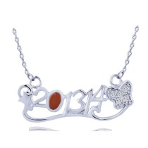 silver necklace H30506