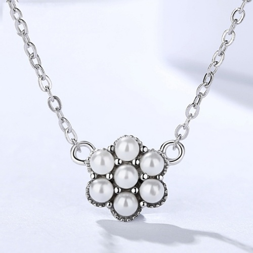 Silver pearl necklace 1050
