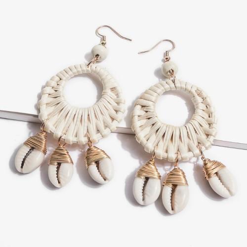 Round shell earrings ME68551-1