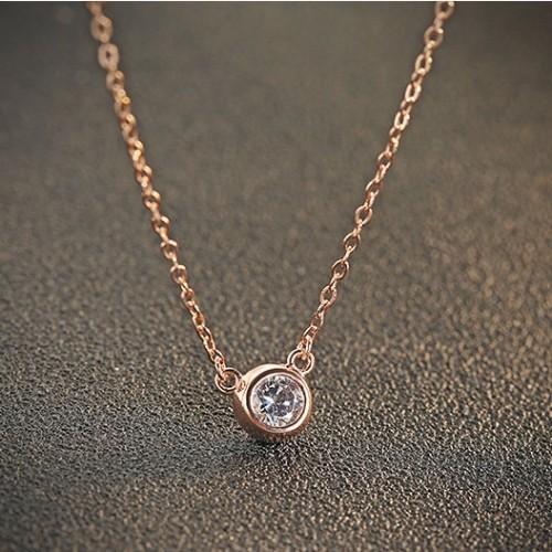 silver necklace MLA737(7mm)