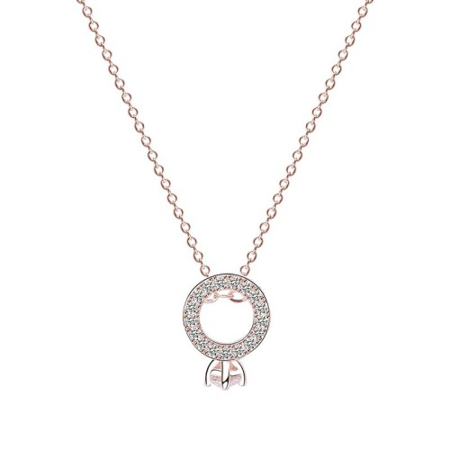 Silver ring necklace MLA044