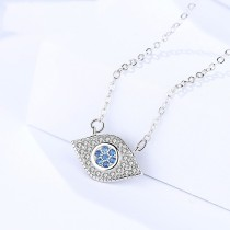 Silver Eye necklace MLA1113