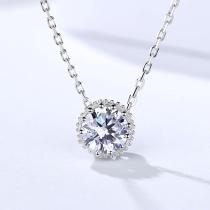 Silver Diamond Necklace MLA1052