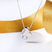 silver heart necklace MLA766a
