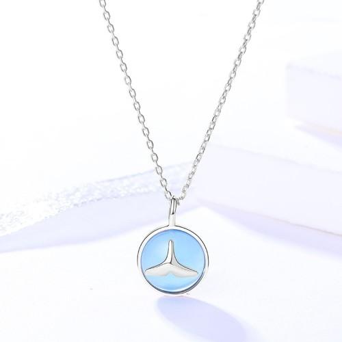 silver necklace MLA591-1