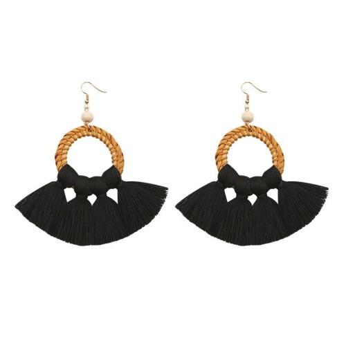 Round tassel earrings ME68456-5
