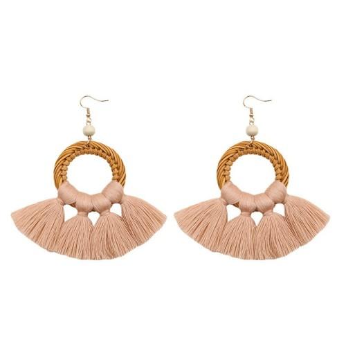 Round tassel earrings ME68456-4