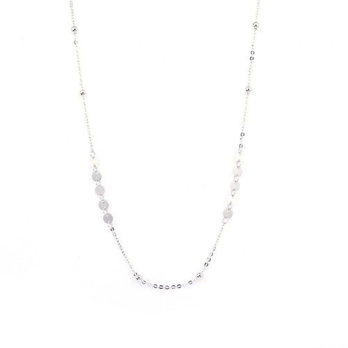 silver round necklace MLA030