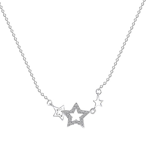 silver star necklace 	MLA604