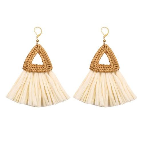 Triangle tassel earrings ME68447-1