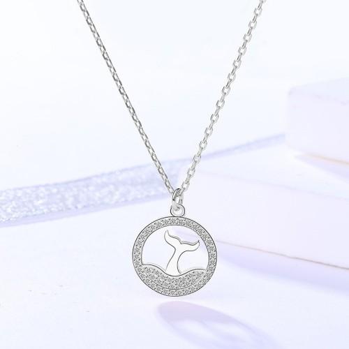 silver necklace MLA720-2
