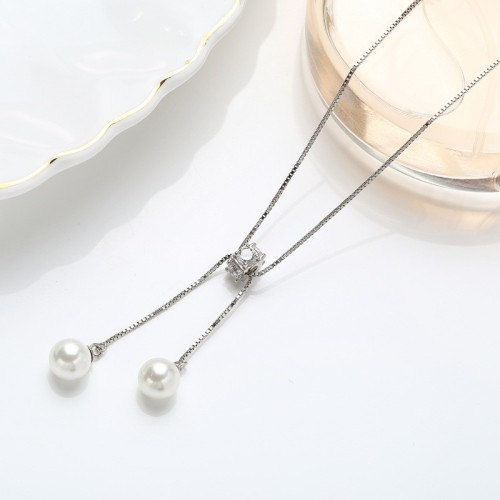 Sterling Silver Sweater Necklace MLA910a