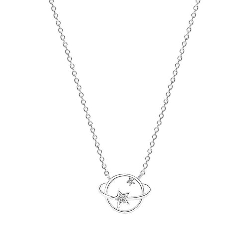 Silver planet necklace MLA410-1