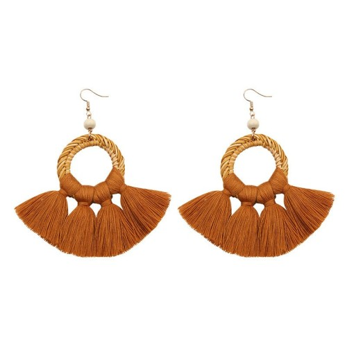 Round tassel earrings ME68456-1