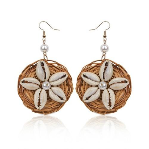 Round shell earrings ME68553