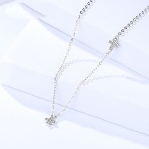 Silver Cross necklace MLA1094a