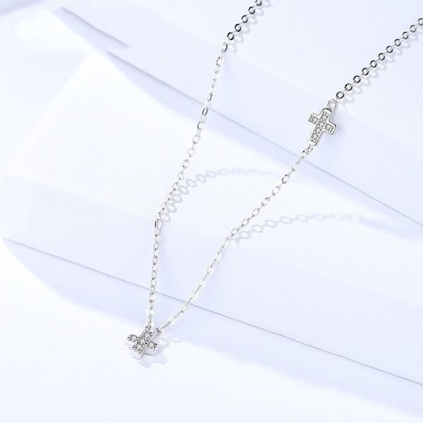 Silver Cross necklace MLA1094a
