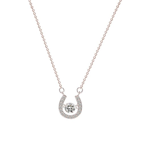Silver U-shaped necklace MLA262