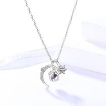 silver necklace MLA761-1