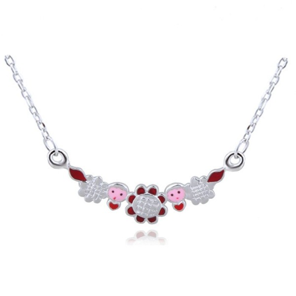silver necklace H10576