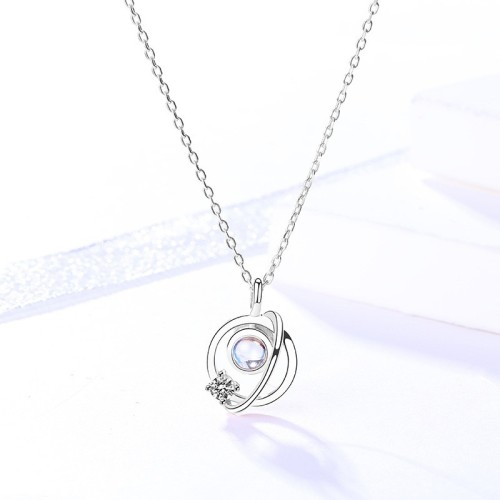 silver necklace MLA597-2