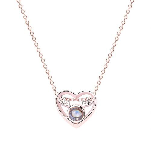 silver necklace MLA732-1