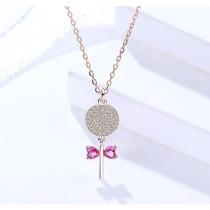 Silver lollipop necklace MLA1051-2