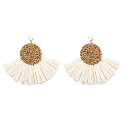 Round tassel earrings ME68445-1