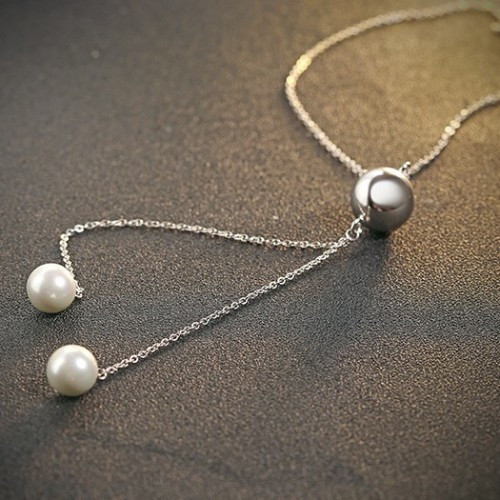 silver necklace MLA723