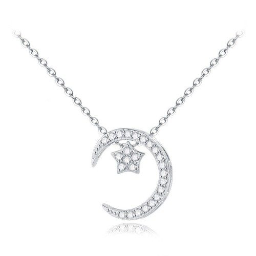silver star necklace MLA598a
